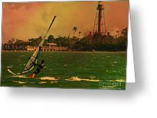 Windsurfer In Paradise Greeting Card