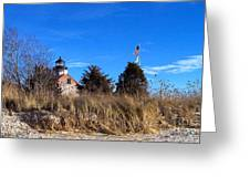 Windy Day At East Point  Greeting Card