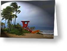 Windy Day In Haleiwa Greeting Card