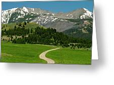 Windy Road To The Crazy Mountains Greeting Card