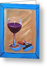 Wine And Cork Greeting Card