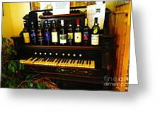 Wine And Song  Greeting Card