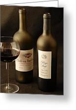 Wine Bottles Greeting Card by David Campione