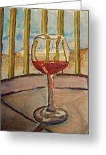 Wine By The Water Greeting Card