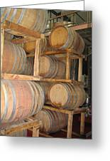 Wine Casks Greeting Card