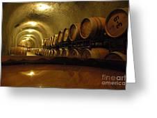 Wine Cellar Greeting Card by Micah May