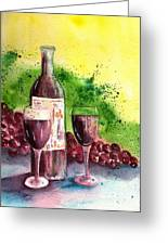 Wine For Two - 2 Greeting Card