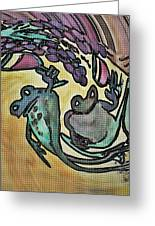 Wine Frogs Blended Not Stirred Greeting Card
