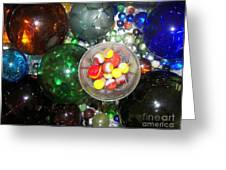 Wine Glass And Marbles Greeting Card