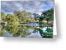 Winery Pond Greeting Card