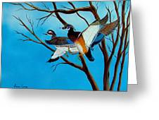 Wingin'  It Greeting Card
