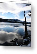 Winter At The Lake Greeting Card