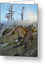 Winter At Yellowstone's Mammoth Terrace Greeting Card