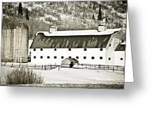 Winter Barn 2 Greeting Card