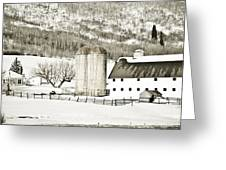 Winter Barn 3 Greeting Card