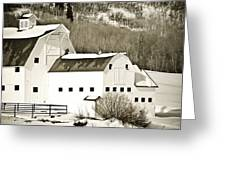 Winter Barn 4 Greeting Card