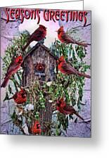 Winter Birdhouse Greeting Card
