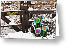 Winter Butterflies Greeting Card