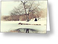 Winter Day In The Park Greeting Card