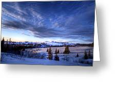 Winter Evening Clouds Greeting Card