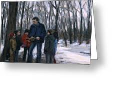 Winter Explorers Greeting Card