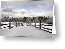 Winter Fields Greeting Card