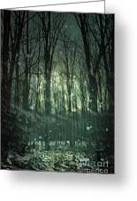 Winter Forest At Twilight Greeting Card