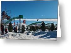 Winter Fun Quebec City Greeting Card