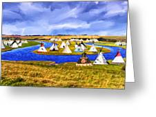 Winter Gathering Place Greeting Card