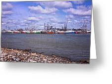Winter Harbor Greeting Card