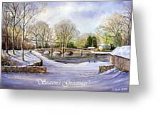 Winter In Ashford Xmas Card Greeting Card