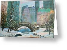 Winter In New York Greeting Card