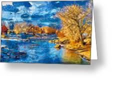 Winter In Salida -- Renoir Greeting Card