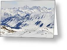 Winter In The Alps - Snow Covered Mountains Greeting Card