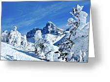 Winter In The Tetons Greeting Card