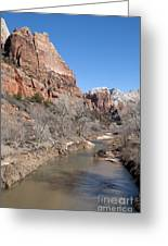 Winter In Zion 2 Greeting Card
