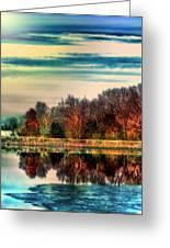 Winter Lake Fantasm Greeting Card