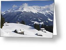 Winter Landscape In The Mountains Greeting Card