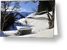 Winter Landscape Greeting Card by Matthias Hauser
