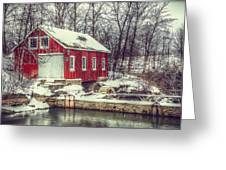 Winter Mill Greeting Card