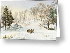 Winter On Ravensdale Road Greeting Card