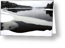 Winter On The Merrimack River Greeting Card