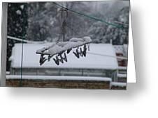 Winter Pegs Greeting Card