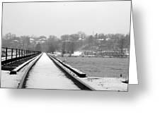 Winter Rails Greeting Card