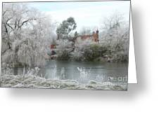 Winter Scene In Surrey, England Greeting Card