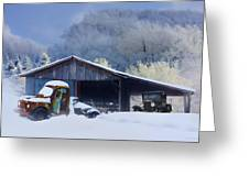 Winter Shed Greeting Card
