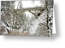 Winter, Shepperds Dell, Columbia River Greeting Card