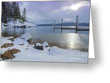 Winter Shore Greeting Card by Idaho Scenic Images Linda Lantzy