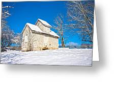 Winter Smoke House Greeting Card
