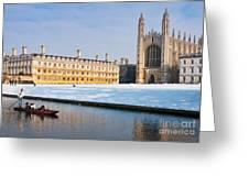 Winter Snow At Kings Greeting Card